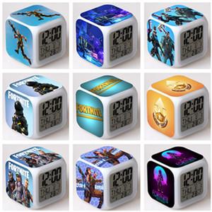 Fornite Battle Royale Будильник С светодиодные цифровые часы Красочные вспышки сенсорный свет для рабочего стола настольные часы Xmas подарков Бесплатная доставка