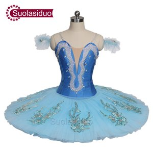 Adult Sky Blue Professional Ballet Tutu Stage Wear Costumes The Nutcracker Ballet Dance Performance Competition Apperal Girs Ballet Skirt