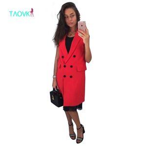 TAOVK neue Mode russischen Stil Frauen Herbst Weste rot weiß rosa und gelb Revers einfarbig Weste Mantel