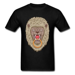 Philippines Lion Door Knocker Printed On T-Shirt Summer Fall Short Sleeve 100% Cotton Crewneck Men High-Elastic T-shirts