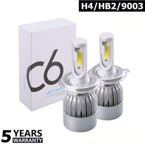 New 1Pair C6 Car Headlight 12V 7600LM 6000k H4 H7 9003 H11 LED H1 H3 880 9005 9006 H13 9004 9007 Car Lights