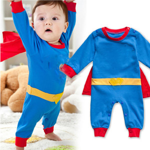 Baby One-Piece 2018 new summer infant Rompers boys girls 5 colors Jumpsuits Cartoon long sleeve Climbing clothes C3772