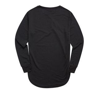 Moda pollice foro manica lunga a maniche lunghe T-shirt Kpop per uomo T -shirt Solid Hip Hop Street T Shirt Black Hold Hand Mens Tshirt Vendita calda