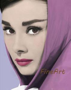 pittura a olio a mano audrey hepburn donna ritratto su tela casa beni pittura ad olio soggiorno con quadri decorativi moderni
