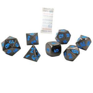 7 STÜCKE Metall Würfel Polyedrische Würfel D20 D12 D10 D8 D6 D4 für Dungeons und Drachen, Rollenspiel Würfel
