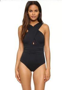 Bathing suit Lady big bikini Swimwear Criss Cross Bandage Halter Bikini Set Beach Bathing Suit Swim Wear