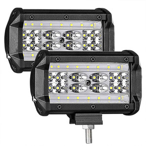 LED Pods, 2Pcs 5 '' 168W QUAD Zeile LED Light Bar Spot Flood Combo Strahl Offroad Fahren Nebelscheinwerfer Wasserdichte LED Cubes Arbeitslicht für LKW
