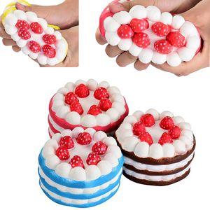Новинка Каваи клубничный торт болотистый медленный рост игрушки для детей взрослых смешные декомпрессии Squeeze игрушки Главная декоративные партии WX9-597