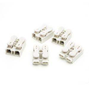 Connettori a molla 100PCS Morsettiera a cablaggio elettrico Morsettiera ZQ-2P Pulsantiera a colonna LED Lamp 2 pin