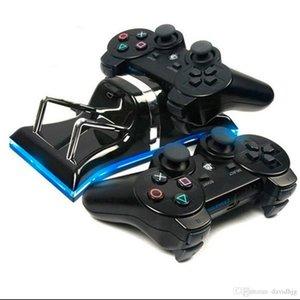 듀얼 USB 충전 스테이션 도크 조정형 크래들 스탠드 PS3 무선 컨트롤러 게임 패드 게임 스틱에 대한 마운트 홀더 충전기