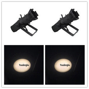 2 pièces LED fixe Lens Profile Spot Light LED 200W scène Images LED Spot Theater Profils de lumière