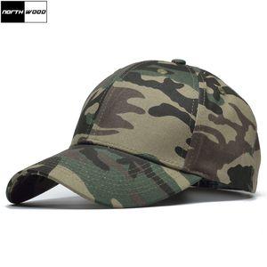 [NORTHWOOD] 고품질 위장 야구 모자 눈과 정글 Camo Snapback Caps 뼈 Masculino Cotton Mens 뼈 Militar Hat
