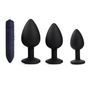 Silicone Anal Plug Bijoux Dildo Vibrateur Prostate Massager Bullet Vibrateur Butt Plug Sex Toys Pour Hommes Femmes Couples Jouets Érotiques