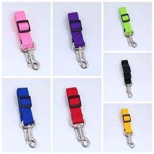 Einstellbare Hundeauto-Sicherheits-Sicherheitsgurt Nylon Haustier Welpen Sitz Blei-Leine-Harness Fahrzeug Seatbelt 7 Farbe DDA485