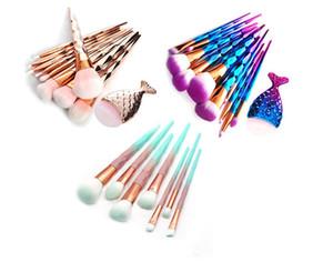 11 pçs / set Colorido Compõem Sobrancelha Delineador Blush Blending Contour Fundação Cosméticos Mulheres Beleza Maquiagem Ferramenta Pincel produto de saúde inteligente