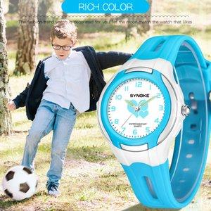 SYNOKE мода новые детские часы открытый водонепроницаемый мальчиков и девочек Спортивные кварцевые часы 9598