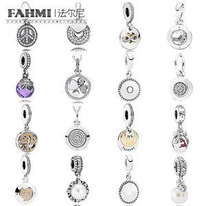 FAHMI 100% 925 Firma Sterling Silver Charm colgante collar RADIANTE Firma colgantes de la mariposa de la mañana de Navidad Pisador reno