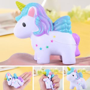 Squishy Toys Squishies Slow Rising Jumbo Kawaii Cute Colored Unicorn Creamy Scent for Kids Party Toys Stress Reliever Toy