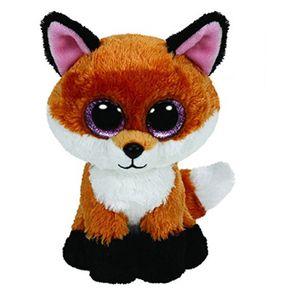 Ty Beanie Boos da 6 pollici Slick Brown Fox peluche Beanie Baby Peluche bambola di pezza da collezione Giocattoli morbidi Grandi occhi giocattoli di peluche