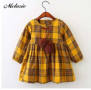 Melario mädchen kleider mode kinder mädchen kleid cartoon langarm prinzessin kleid mode kinder kleider kinderkleidung