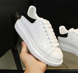 2018 Luxury Designer Men Black Casual Shoes Mujeres Zapatillas Casual Leather Shoes Hombres Mujeres Extremely Durable Stability Sneakers