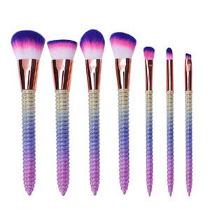 7PCS Set Makeup Brushes Set Eyeshadow Eyebrow Eyeliner Blush Contour Foundation Lip Cosmetic Beauty Make Up Brushes Kits