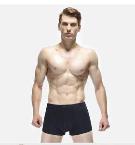 Mens casuali del pugile Underpant Solido Cotone Colore Lettera Stampa respirabile della biancheria intima 4 parti mólto di modo maschio mutande L-3XL multipla di colore