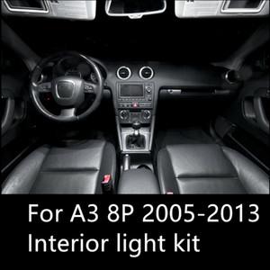 shinman 12st fehlerfreies Auto LED Innenbeleuchtung Kit-Paket für AUDI A3 8P Zubehör 2005-2013 Innenbeleuchtung Freeshipping