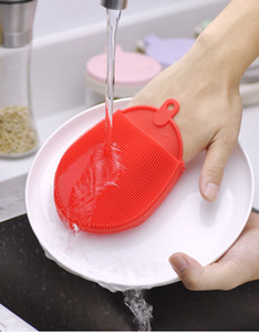 Cleaning Brushes Silicone Dish Bowl brushes Cleaning Glove Pot Pan Wash Brushes Kitchen Pot Cleaner Washing Tool