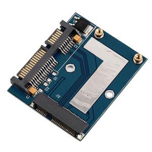 """Freeshipping 10 pcs New Hot Mini PCI-e MSATA Para 2.5 """"Adaptador SATA Converter Módulo Cartão Azul Board Atacado"""