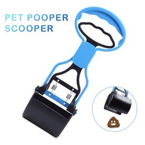 Portable Scooper Pooper con manija larga para la limpieza del perro mascota Cat Poop Purple Blue Color
