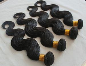 Precio de descuento de fábrica Extensiones brasileñas del pelo humano Paquetes peruanos malasios sin procesar del pelo recto Teñido mejor Weav del pelo de la calidad