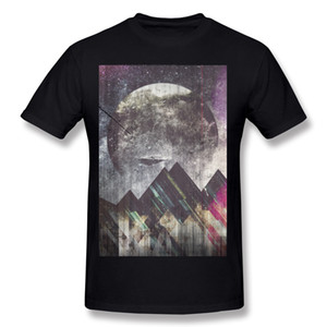 베스트 셀러 코튼 원단 Sweet dreams 마운틴 T 셔츠 남성용 O-neck 옐로우 반소매 셔츠 플러스 사이즈 디자인 T 셔츠
