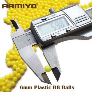 Armiyo 1000 أجزاء الادسنس 6 ملليمتر bb كرات الذخيرة الصيد الرماية ممارسة bb الرصاص الألوان البلاستيك مصقول الكريات السهام القوس