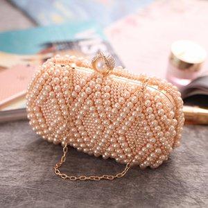 Frauen Clutch Bag Perle Perlen Party Braut Handtasche Hochzeit Abend Purse7229-08