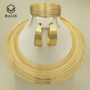 BAUS Eritrea Dubai gioielli d'oro da cerimonia nuziale arabo nigeriano gioielli perline africane Imposta colore Oro etiope set etiope