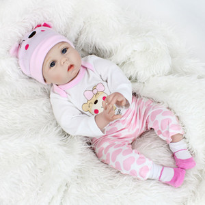 Toy Dolls For Girls Baby Cute Silicone Doll Girl Favorite Simulation Cloth Parent And Child Toy 55cm For The Kids Gift