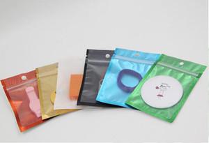 2018 novo saco de Folha de Alumínio colorido com zíper bolsa Claro Frente com colorido de Volta saco de embalagem de plástico ouro azul preto