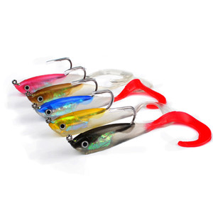 Silicone soft baits 14.7G 10CM lead jig head fishing lures single hook artificial bait softbaits fish Supplies tackles