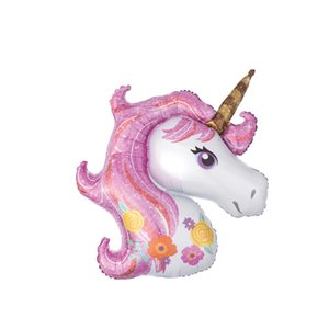 Розовый единорог партия Радуга Unicornio весело маска день рождения украшения Eenhoorn партия пользу поставки