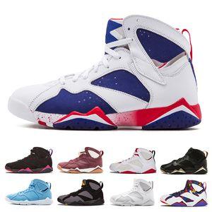 2018 горячие продажи мужчины 7 баскетбольная обувь мужчины raptor guyz зайцы Олимпийский Бордо GG кардинал Raptor французский синий цитрусовые спортивные кроссовки размер 41-47