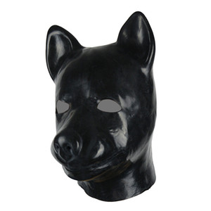 Moules 3D tête pleine tête de chiens de chien de chèvre caoutchouc unisexe fétiche latex chien bdsm esclave hotte sexy
