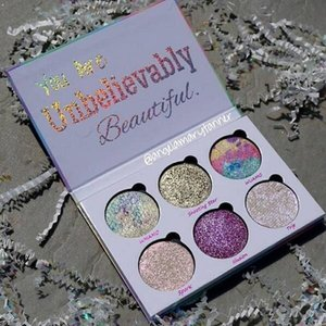 Любовь Люкс красоты фантазия палитра макияж Вы невероятно красивый маркер палитра теней для век 6 цветов Бесплатная доставка