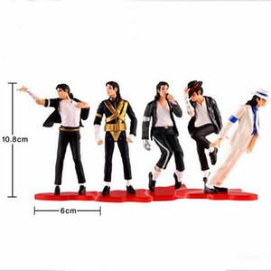"""Nuevo Lote 5 Unids / set MICHAEL JACKSON STATUE DOLL FOREVER COOL POP Music 4 """"Figura de Acción Con Caja de Regalo de Muñeca de Juguete de Colección"""