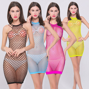 Mulheres Casual Vestidos Sexy Nightgowns Sleepshirts Malha Oco Baby Doll Dress Lingerie Erótica Mulheres Trajes Sexy roupas Sexy