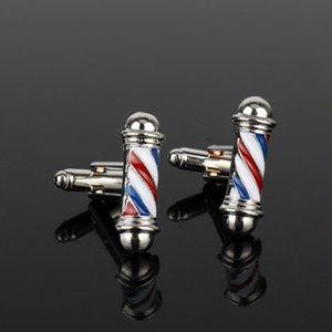 Dongsheng Tie Clips Abotoaduras Série Barbearia Barber Pólo Abotoaduras Camisa Dos Homens Botões de Punho Jóias Abotoaduras Novos Acessórios