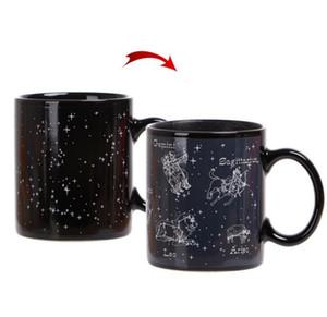 DHL mudança da cor da Constelação de cerâmica Caneca 330ML estrelas aparecem no céu noturno sobre esta mudança da cor do copo de café nt