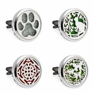 Lovely cane / gatto / orso Paw 30mm Diffusore Ciondolo Auto Aroma Locket Essential Car Diffusore Olio Medaglioni inviare 10 pz spedizione pad olio