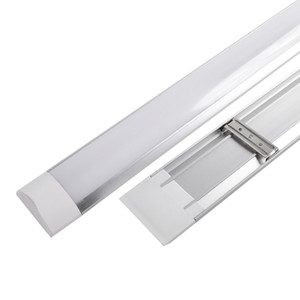 Surface Mounted LED Batten double rangée Tubes Lumières 1FT 2FT 3FT 4FT T8 Luminaire Purificati LED tri-proof Tube Light 20W 40W AC 110-240V