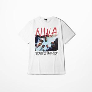 Precipitarse fuera de Compton Camiseta recta de salida Hip Hop memoria Compton Hombres camiseta Moda Camiseta Hombre Camisetas Hombre Justin Bieber de la venta caliente